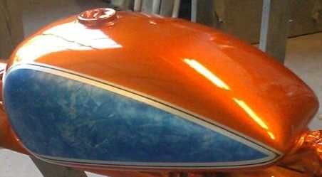 Marble Effect Paint Custom Motorcycle Paint Td Customs