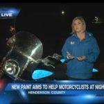 Sarah Danik, FOX Carolina Live from TD Customs light up motorcycle