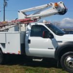 utility truck paint job - hendersonville body shop