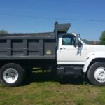 Asheville dump truck paint job