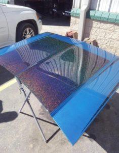rainbow metal flake paint job
