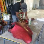 motorcycle repair paint shop