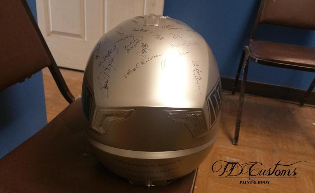 personalized motorcycle helmet - custom paint bike shop