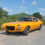 Classic car restoration paint job