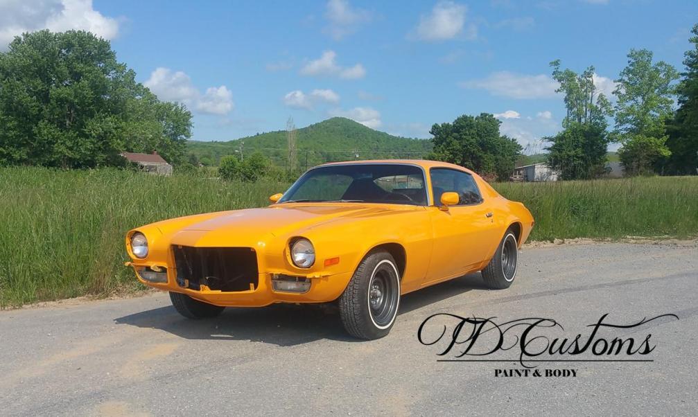 Classic car restoration paint job TD Customs