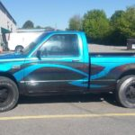 custom paint metal flake TD Customs shop truck