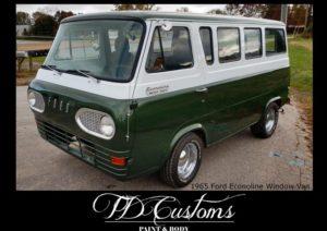 TD Customs 2019 Calendar Custom Paint Classic Restorations Econoline van