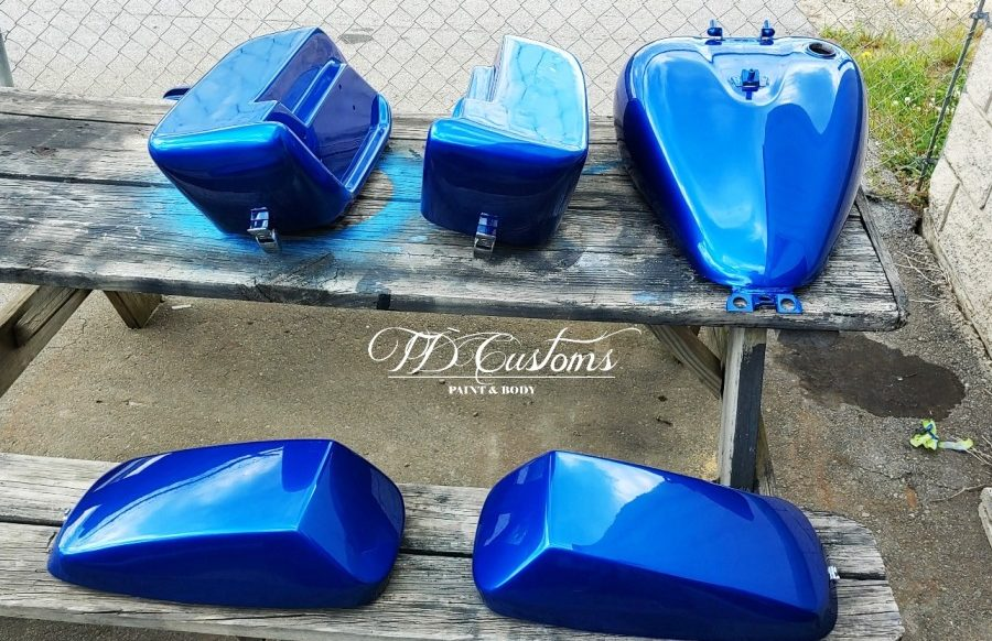 td customs motorcycle paint job Mills River Hendersonville