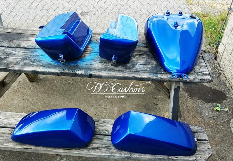 td customs motorcycle paint job Mills River Hendersonville