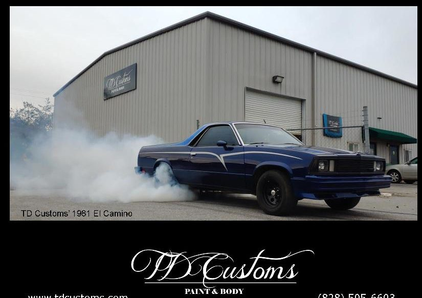 TD Customs El Camino ELCO burnout